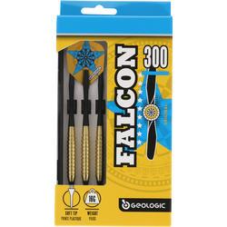 3 dartpijltjes Falcon 300, plastic punt - 697423