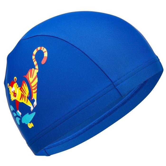 Stoffen badmuts tijger blauw