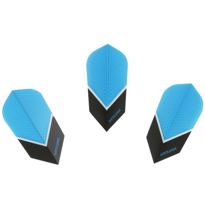 3 dartflights Slim blauw