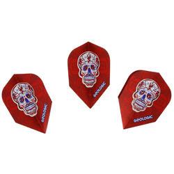 3 dartflights standaard Skull rood
