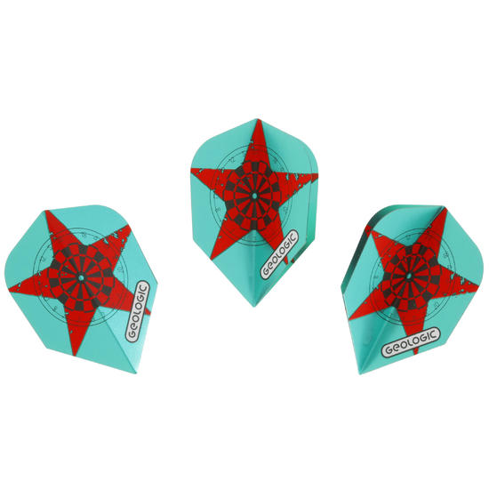 Flights darts standaard Star groen - 697778
