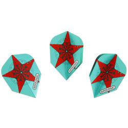 3 standaard dartflights Star groen