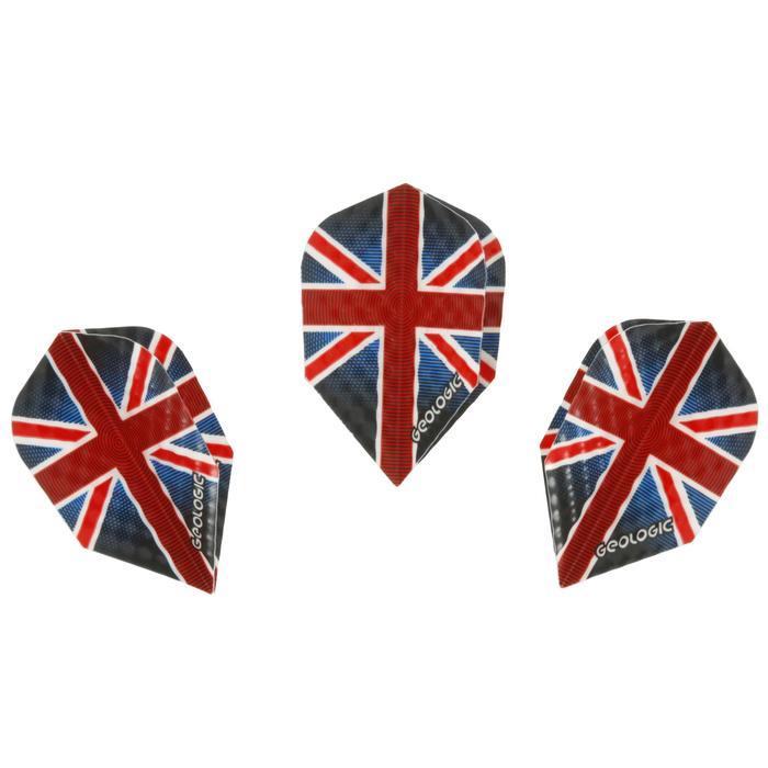 3 standaard dartflights UK blauw