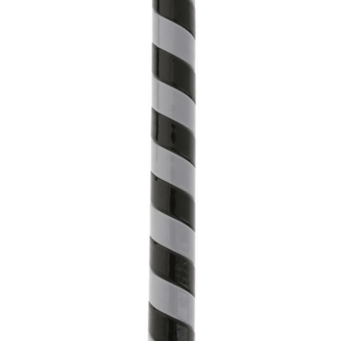 Rijzweep voor ruitersport Course grijs en zwart - 63 cm