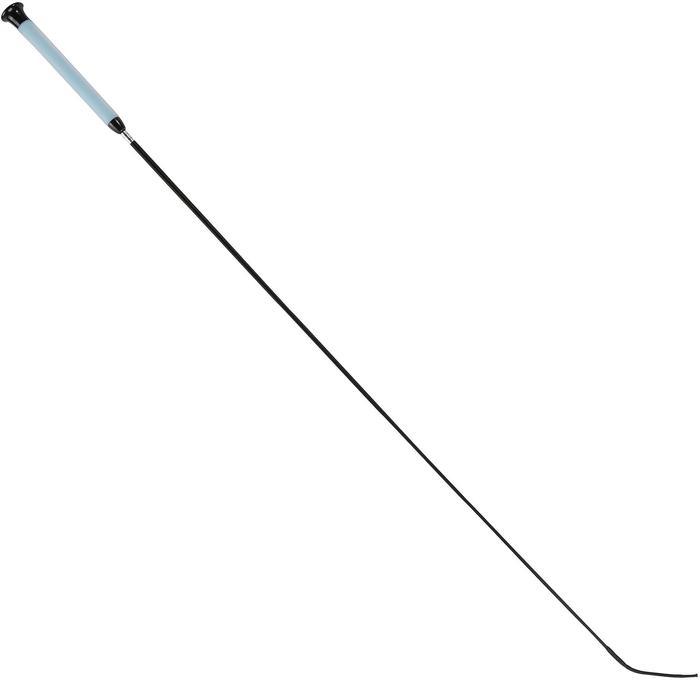 Cravache dressage équitation GEL 110 cm bleu