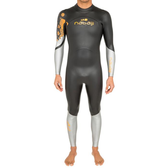 Traje de natación neopreno natación en aguas abiertas OWS550 4 3 mm hombre 6ec35835685