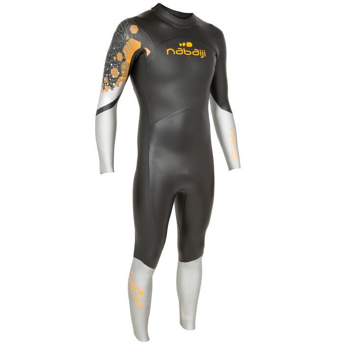 Combinaison de natation néoprène nage en eau libre OWS550 4/3mm homme - 697948