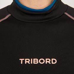 Thermische rashguard met korte mouwen voor dames zwart - 698139