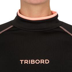 Thermische en uv-werende rashguard 900 met lange mouwen voor dames zwart - 698152