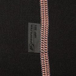 Thermische en uv-werende rashguard 900 met lange mouwen voor dames zwart - 698154