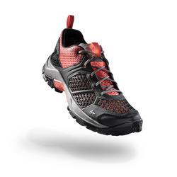 NH550 女款自然健行鞋 珊瑚色和灰色