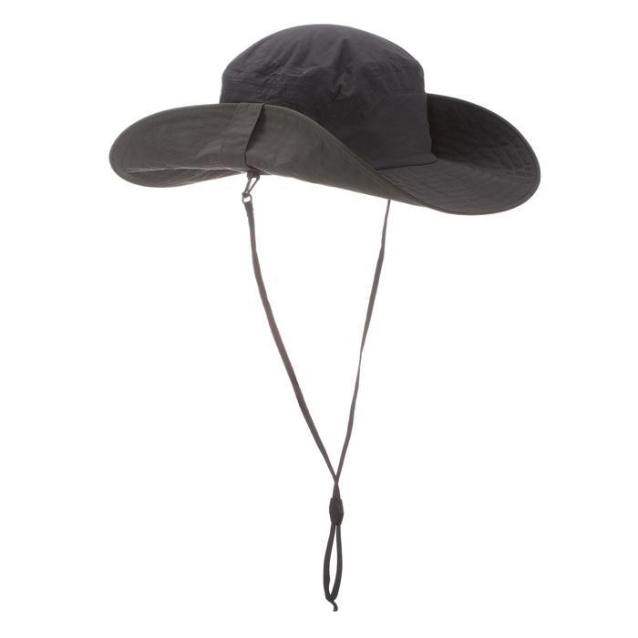 成人防曬健行登山遮陽帽 TREK500-黑色