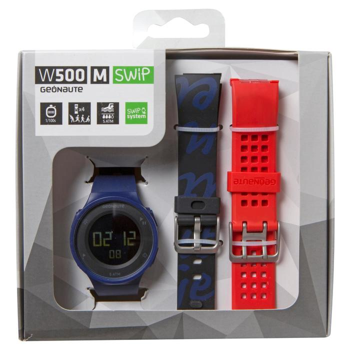 Montre chronomètre de course à pied homme W500 M noire reverse - 700380