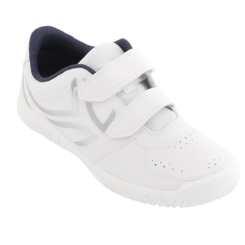 Giày tennis TS700 Grip cho trẻ em - Trắng/Bạc