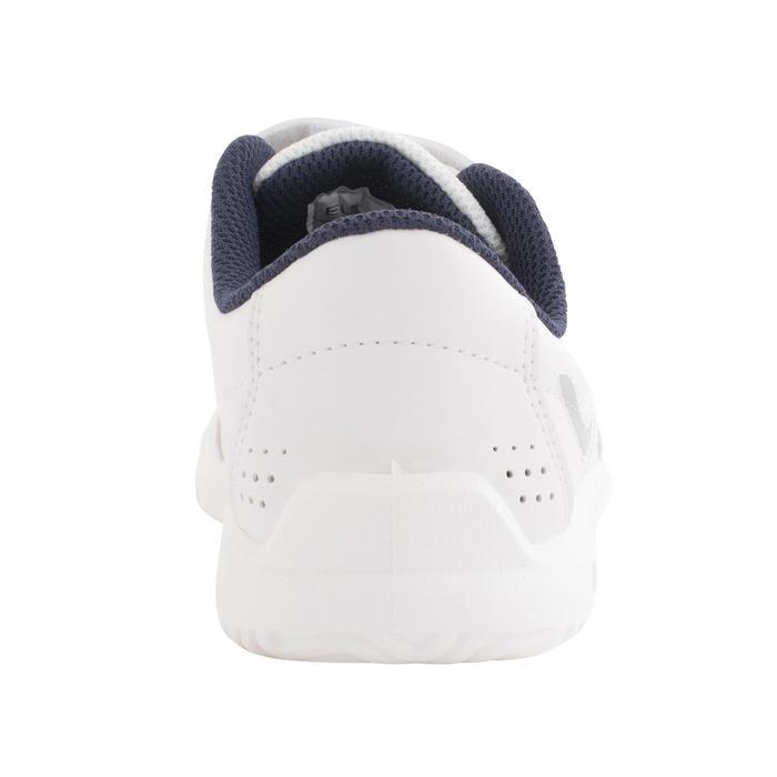Tennisschuhe TS100 Grip Turnschuhe mit Klettverschluss Kinder weiß/blau