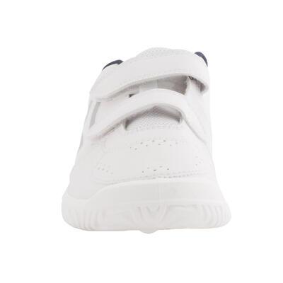 נעלי טניס לילדים TS100 Grip - לבן/כחול