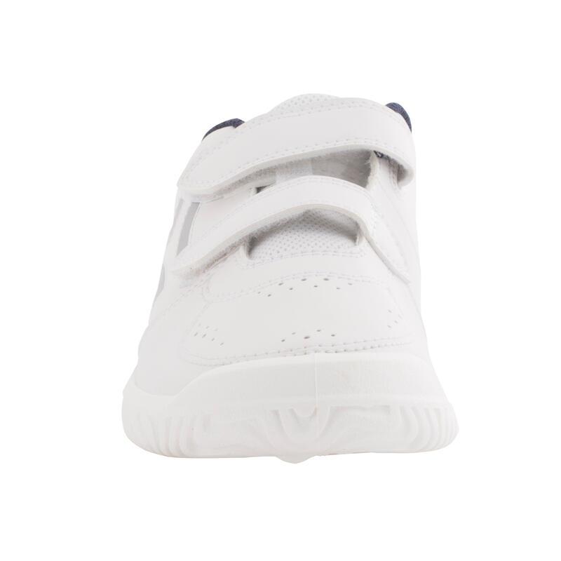 รองเท้าเทนนิสสำหรับเด็กรุ่น TS100 (สีขาว/ฟ้า)