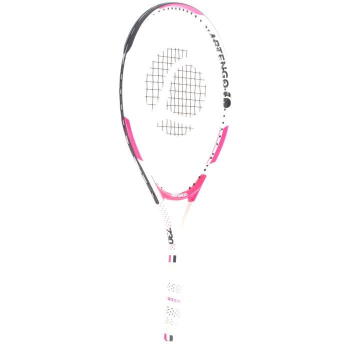 TR130 23 女童網球拍 - 白色/粉紅色