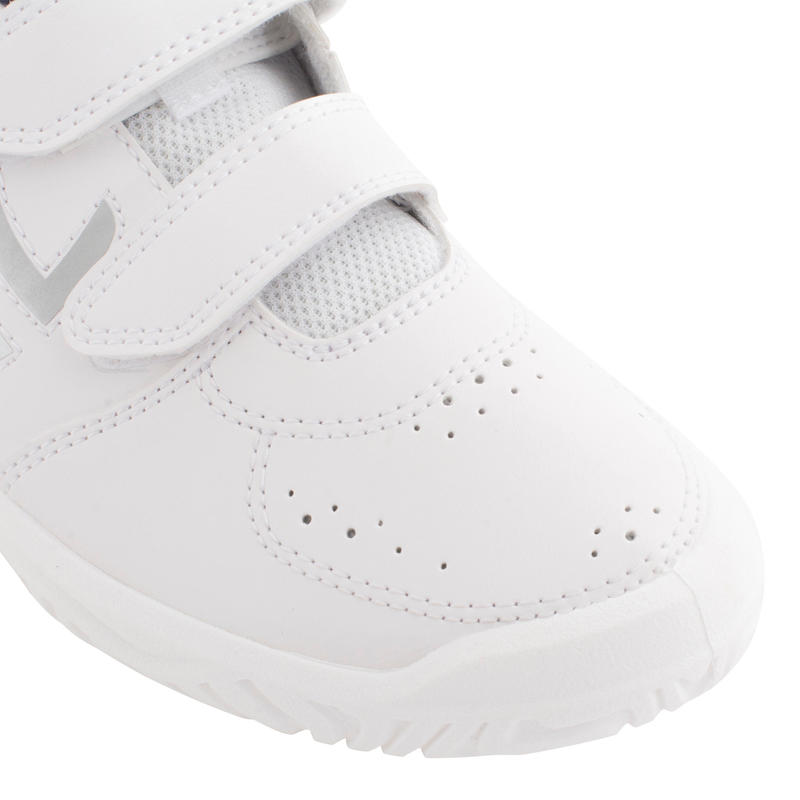 TS100 Grip Kids' Tennis Shoes - White/Blue
