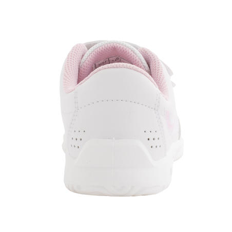 TS100 Grip Kids Tennis Shoes - White/Pink
