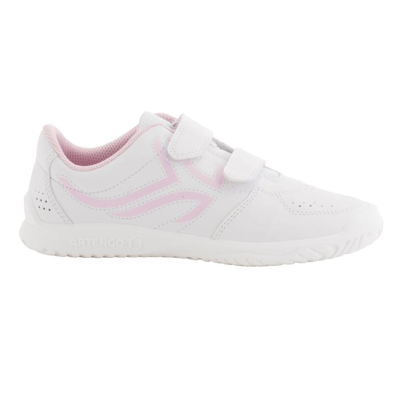 Scarpe tennis bambina TS100 bianco-rosa