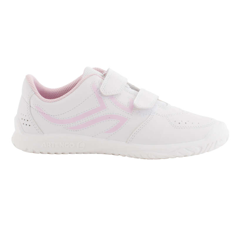 JUNIOR TENNIS SHOE Tennis - TS100 JR - White/Pink ARTENGO - Tennis Shoes