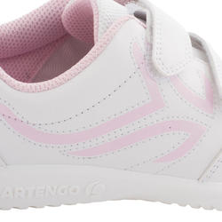 TS100 Grip Kids' Tennis Shoes - White/Pink