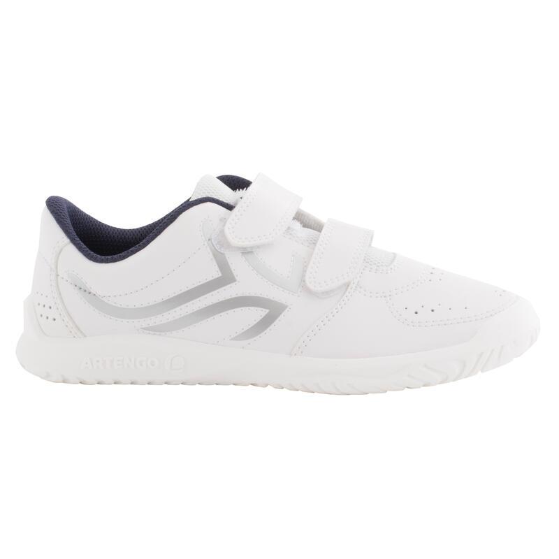 Scarpe tennis bambino TS100 bianco-azzurro