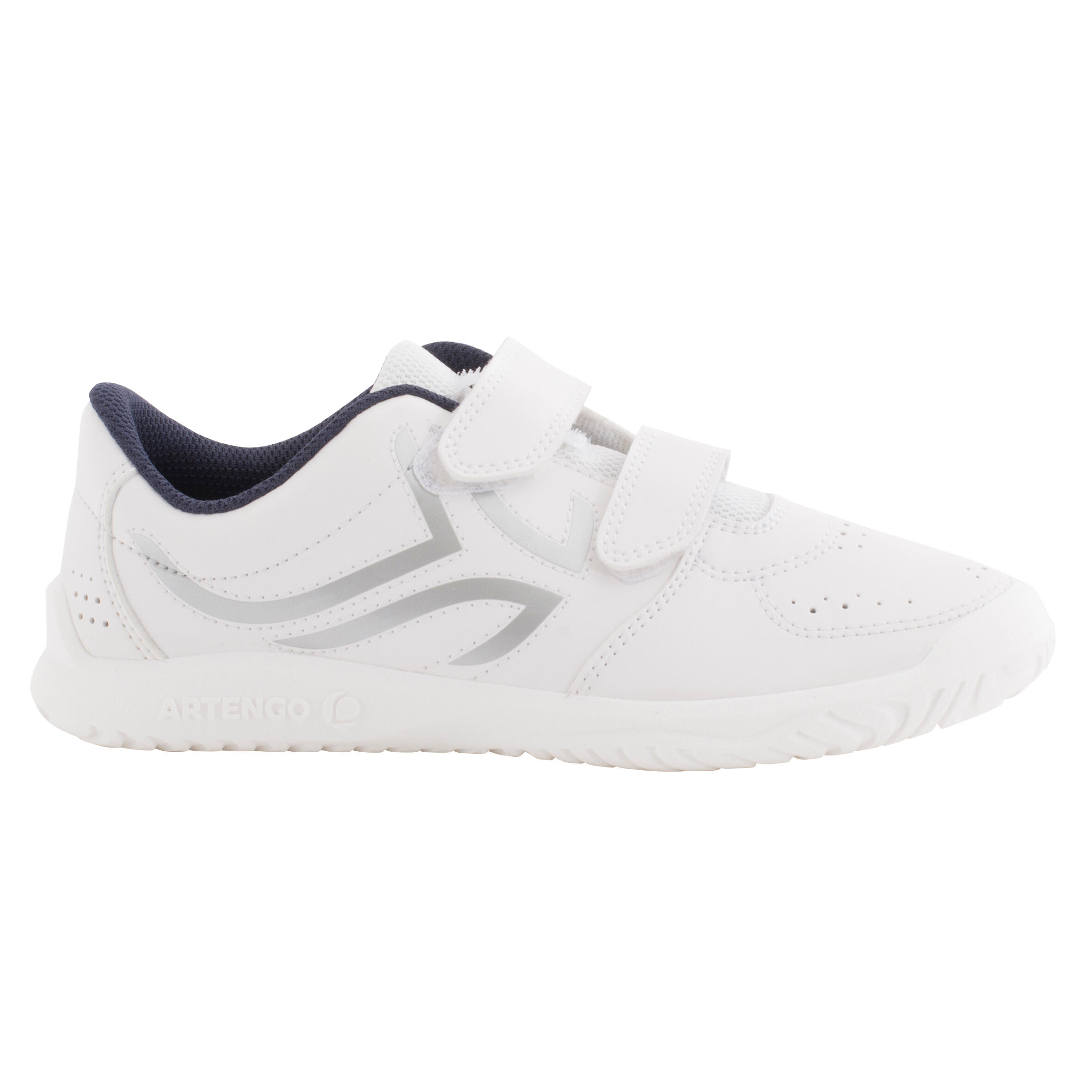 TS100 Grip Kids Tennis Shoes - White/Blue