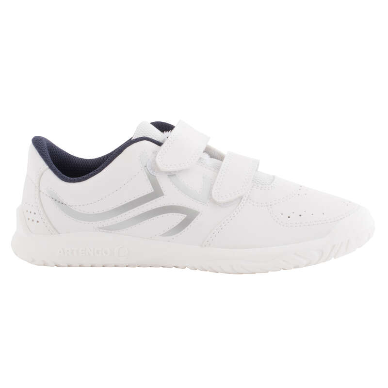 JUNIOR TENNIS SHOE Tennis - TS100 JR - White/Blue ARTENGO - Tennis Shoes