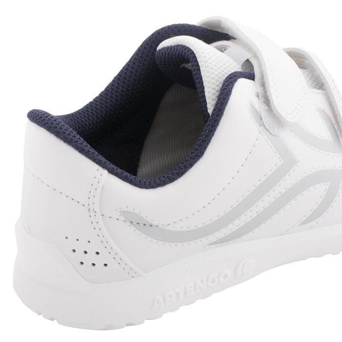 Tennisschuhe TS100 Turnschuhe Grip Kinder weiß/blau