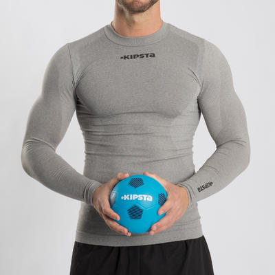 Balón de fútbol talla 1 Sunny 300 azul claro negro