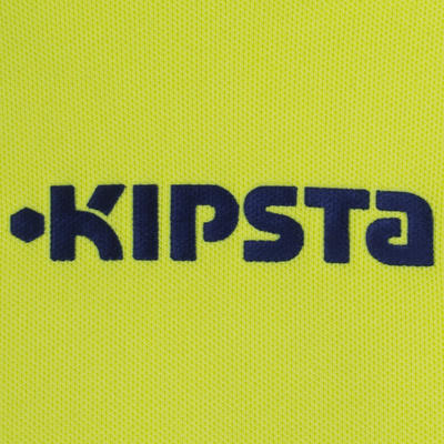 تيشرت بأكمام لحارس مرمى كرة القدم للأطفال KIPSTA F300 - أصفر/أسود.
