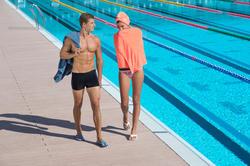 Zwemboxer voor heren B-Active Plus zwart - 701172
