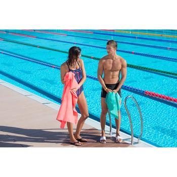 Badslippers voor zwemsport heren Slap 500 wit/blauw