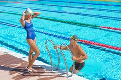 Zwemboxer voor heren B-Active Plus zwart - 701727