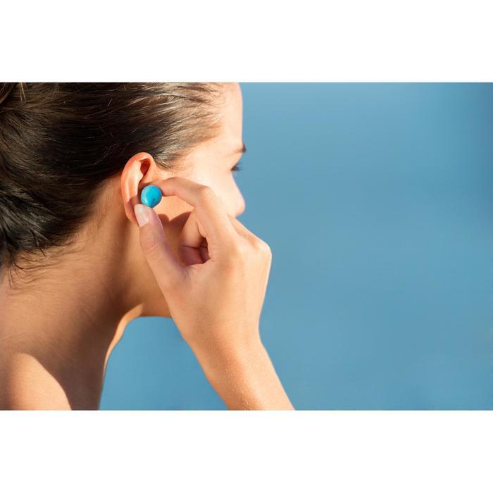 Kneedbare oordopjes voor zwemmen thermoplastic blauw en roze