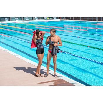 Maillot de bain de natation forme shorty une pièce femme Leony bleu foncé - 701761