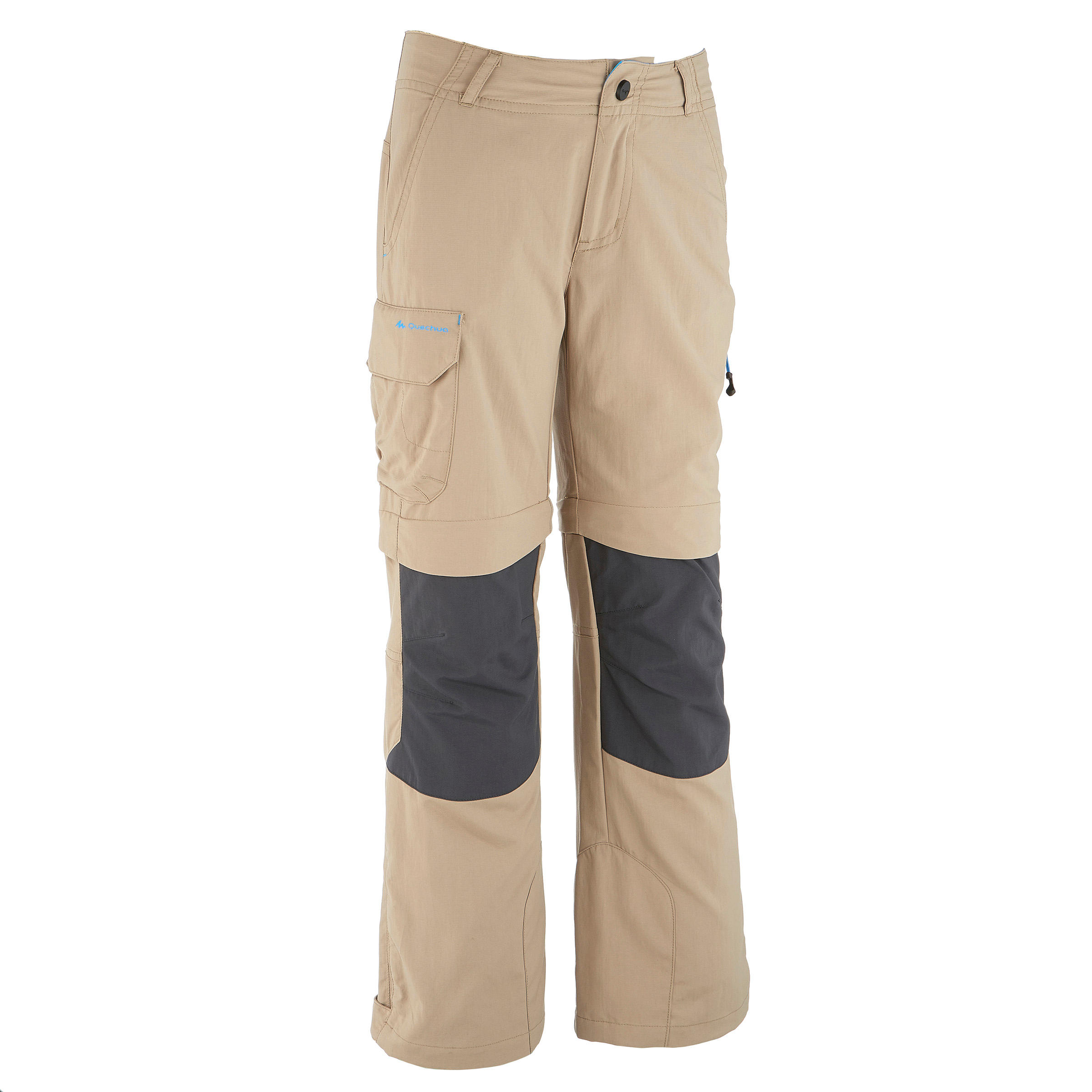 Kid's Hiking Pants MH550 (Modular) - Beige