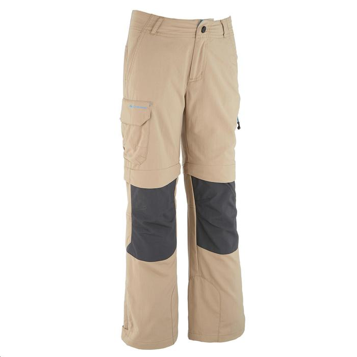 Pantalón transformable de senderismo júnior Hike 900 beige