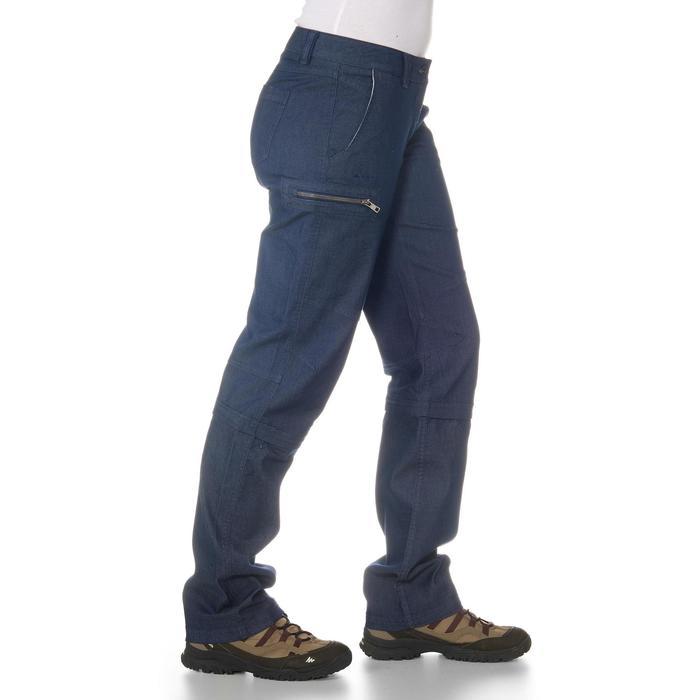 Pantalon modulable Trekking arpenaz 500 Denim femme - 702375