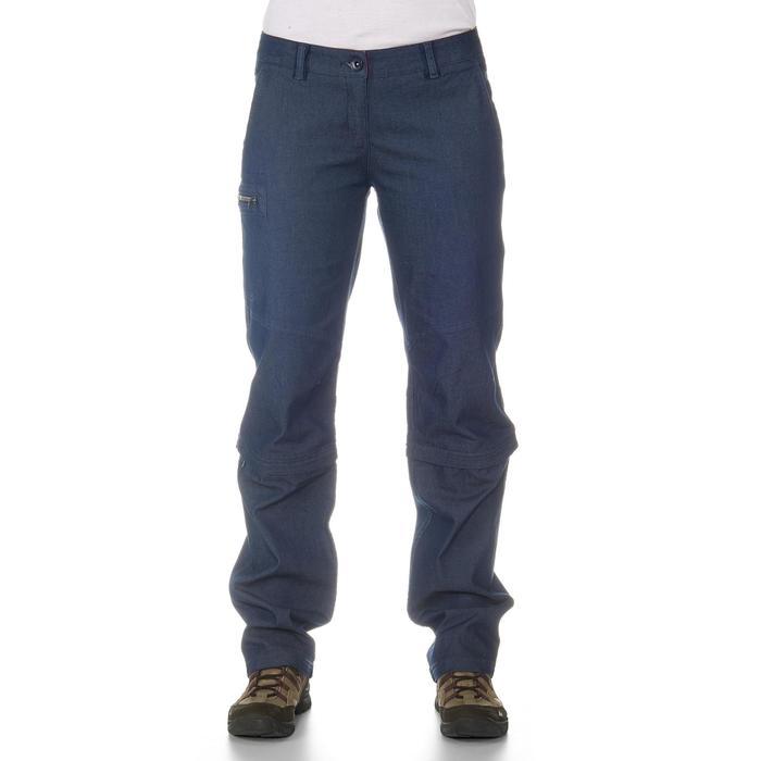 Pantalon modulable Trekking arpenaz 500 Denim femme - 702377