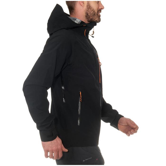 MH500 男士健行運動防雨夾克 - 黑色