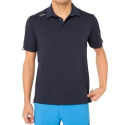 男款帆船賽短袖Polo杉Race-深藍色