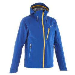 MH500 男士健行運動防雨夾克 - 藍色黃色