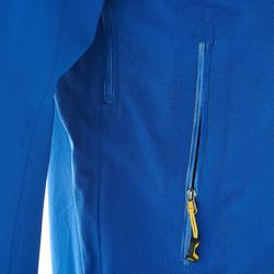 MH500 Men's Waterproof Mountain Hiking Rain Jacket - Blue Yellow