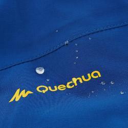 男款防水登山健行防雨外套MH500-黃藍配色