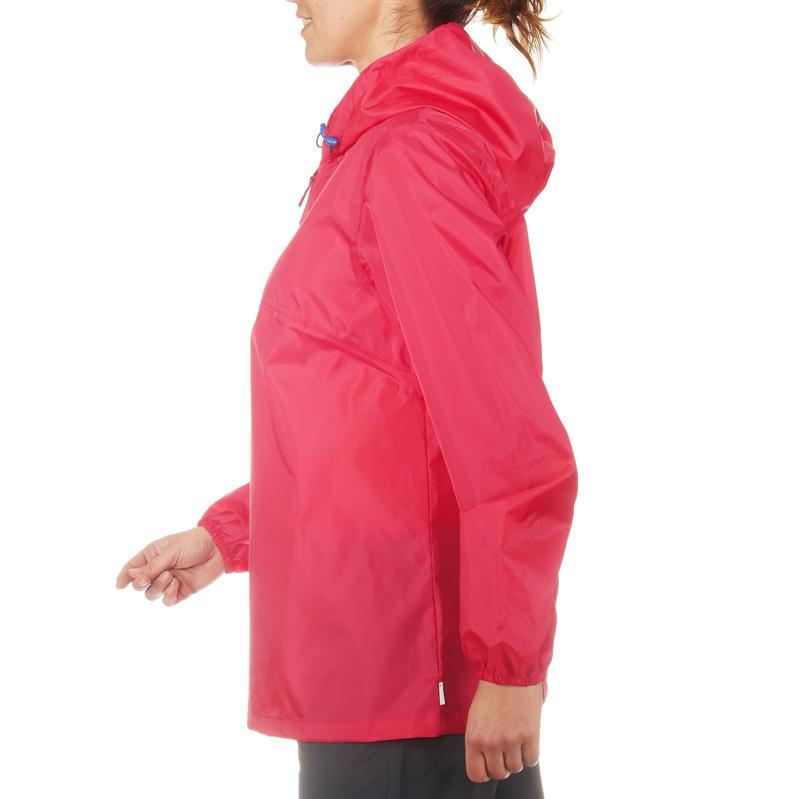 Cortaviento Impermeable senderismo en la naturaleza mujer Raincut rosado