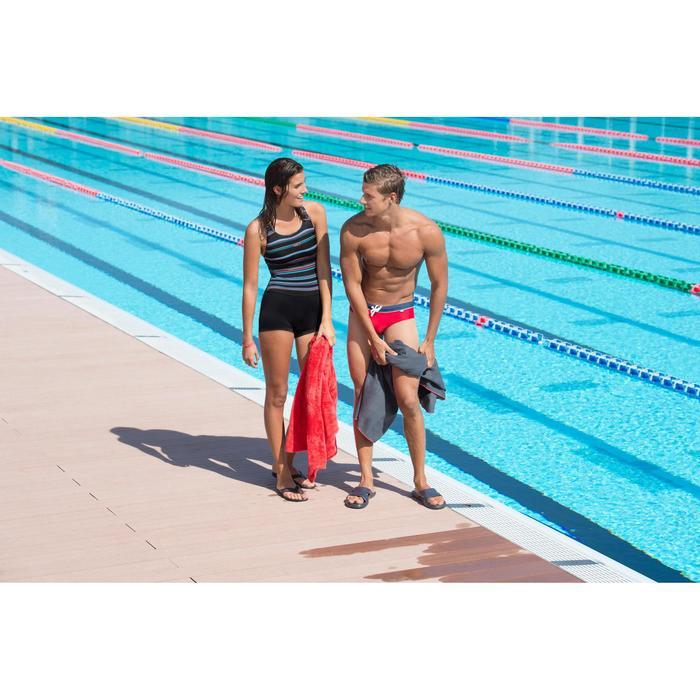Maillot de bain de natation forme shorty une pièce femme Leony bleu foncé - 703002
