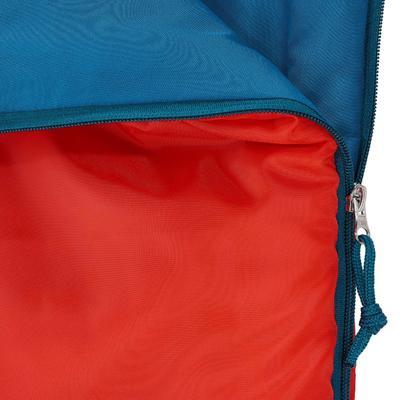 كيس نوم Forclaz 10° للأطفال للاستخدام أثناء الترحال والمشي لمسافات طويلة -أحمر.